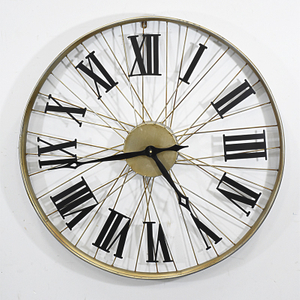 Vintage industrial Bicycle Wheel Wall Clock