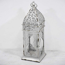 Antique Shabby Chic Silvery Indoor Decorative Metal Candle Lanterns