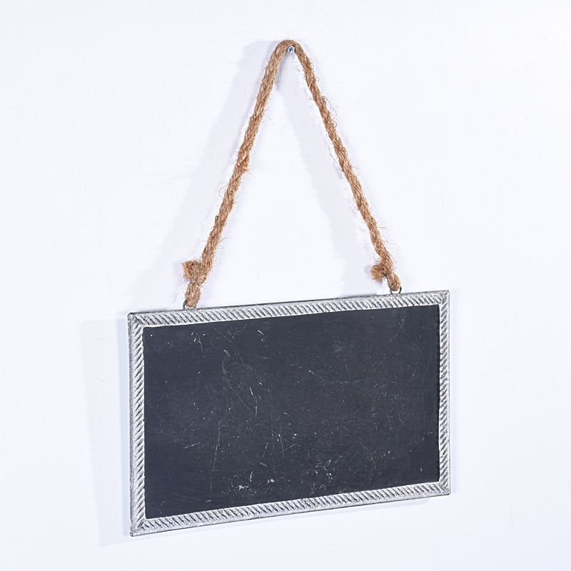 Rustic Mini Metal Chalkboard Signs