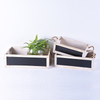 BSCI Little Mini Vintage CheapWood Garden Planter with Blackboard in Series