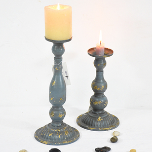 Metal Pedestal Candle Holders French Fleur Candleholders Wholesale