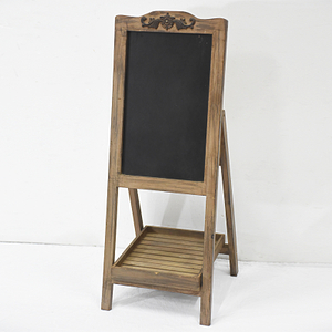 Rustic Style Standed Wooden Blackboard with Flower Stand