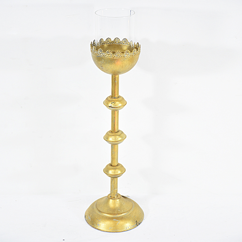 Retro Vintage Gold Table Centerpiece Tall Candle Holders for Wedding
