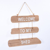 New Products Wholesale Garden Vintage Rustic Wooden Wall signs