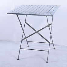 Shabby Chic Blue Wood Folding Dining Slat Table