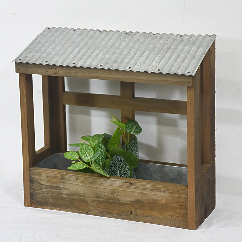 New Design Vintage Rustic Country Style Solid Wooden Garden Herb Planter
