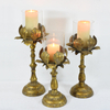 Wholesale Custom Antique Gold Metal Candle Holder