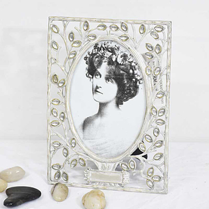 Antique Vintage Delicate Wedding Metal Samll Photo Frame