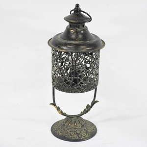 Vintage Retro Home Decorative Black Metal Hurricane Led Lantern