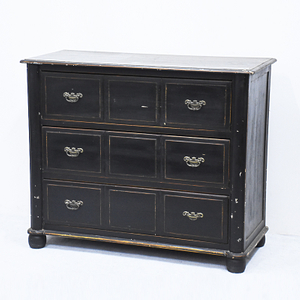 Wholesale French Style Antique Furniture Black Wooden Chest