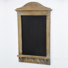 Vintage Brown Farmhouse Wall Mounted Chalkboard with Shelf And Hook