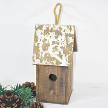 Wholesale Shabby Chic Rustic Handmade Wooden Small Birdhouse