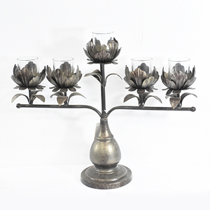 Metal Rustic Candelabra Candle Holder