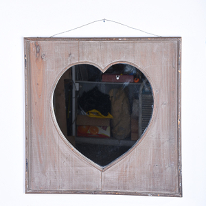 Vintage Farmhouse French Heart Hoome Goods Decorative Mirrors Wholesale
