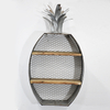 Farmhouse style Round Floating metal Wall Shelf Rack with Chicken Wire