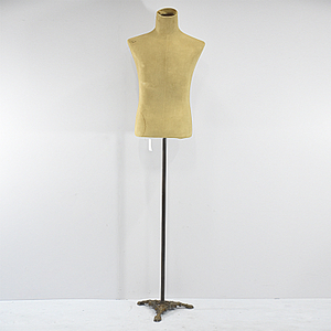 Vintage Very Old French Linen Wasp Waist Mannequin