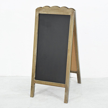 Vintage Free Standing Folding Wooden A Frame BlackBoard for Sale