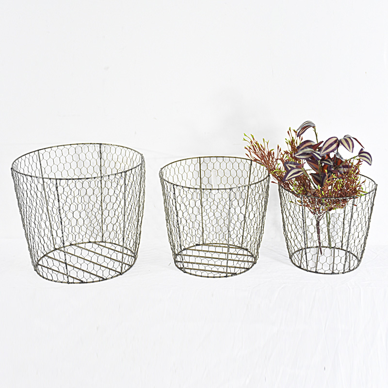 antique farmhouse metal Wire egg basket wholesale