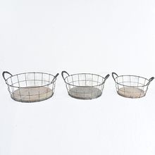 Vintage Rustic Wood And Chicken Wire Tray with Handle