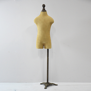 Vintage Female Half-Leg Dress Form with Linen