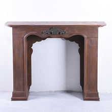 Antique French Style Handmade Wood Fireplace Mantel