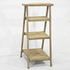 3 Tier Shabby Chic Rustic Standing Wooden Folding Ladder Shelf