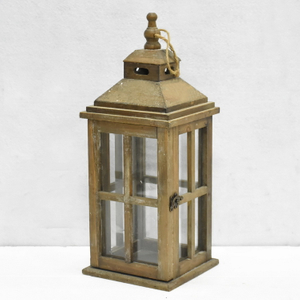 Luckywind Rustic Brown Handmade Antique Gifts & Crafts Candle Lantern, Garden Wooden Lantern & Wholesale Lanterns